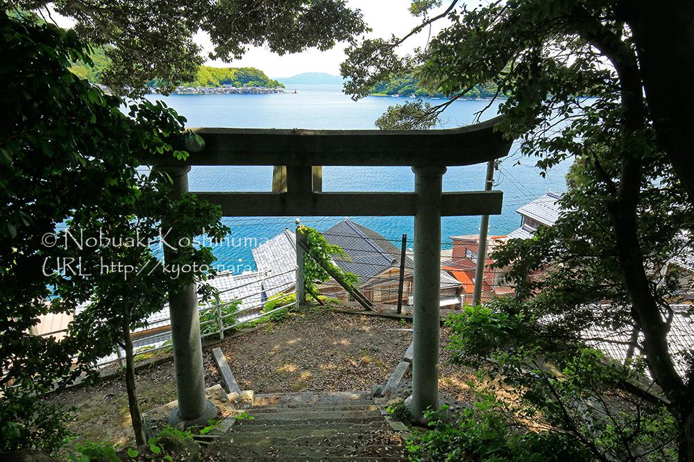 八坂神社より。青い海が印象的でした!