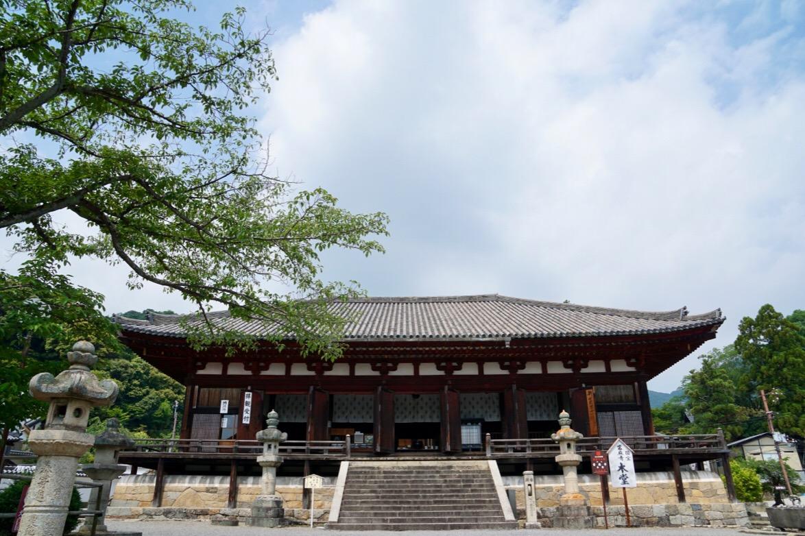 本堂。奈良時代のものです。