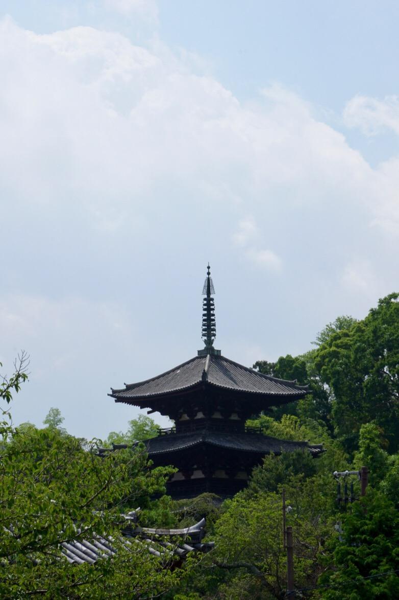 本堂から見た東塔