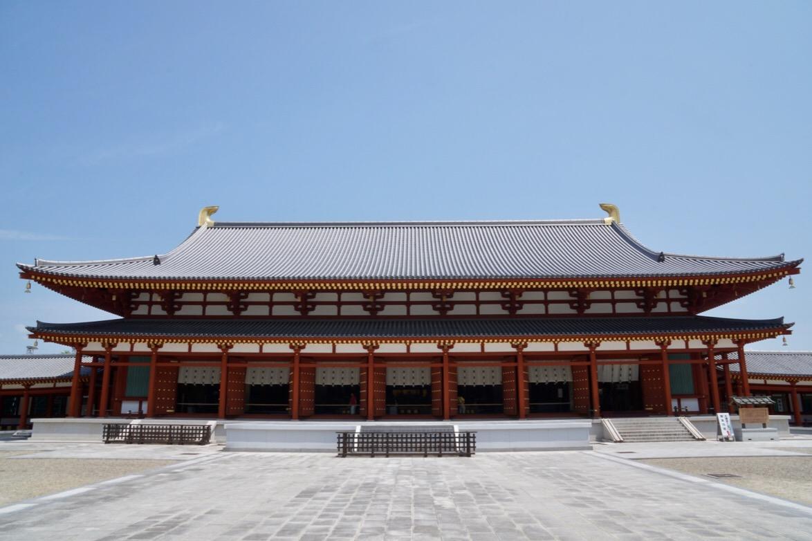 大講堂。平成15年に再建されました。