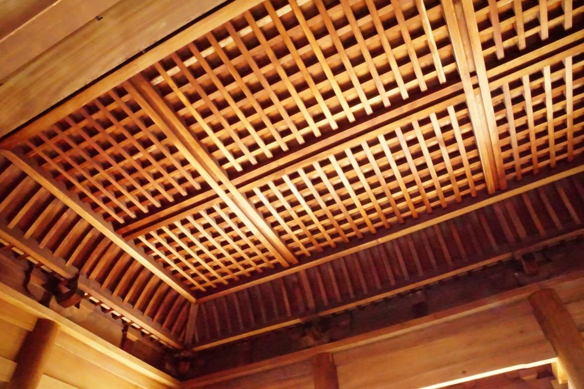 天井。美しいですね。