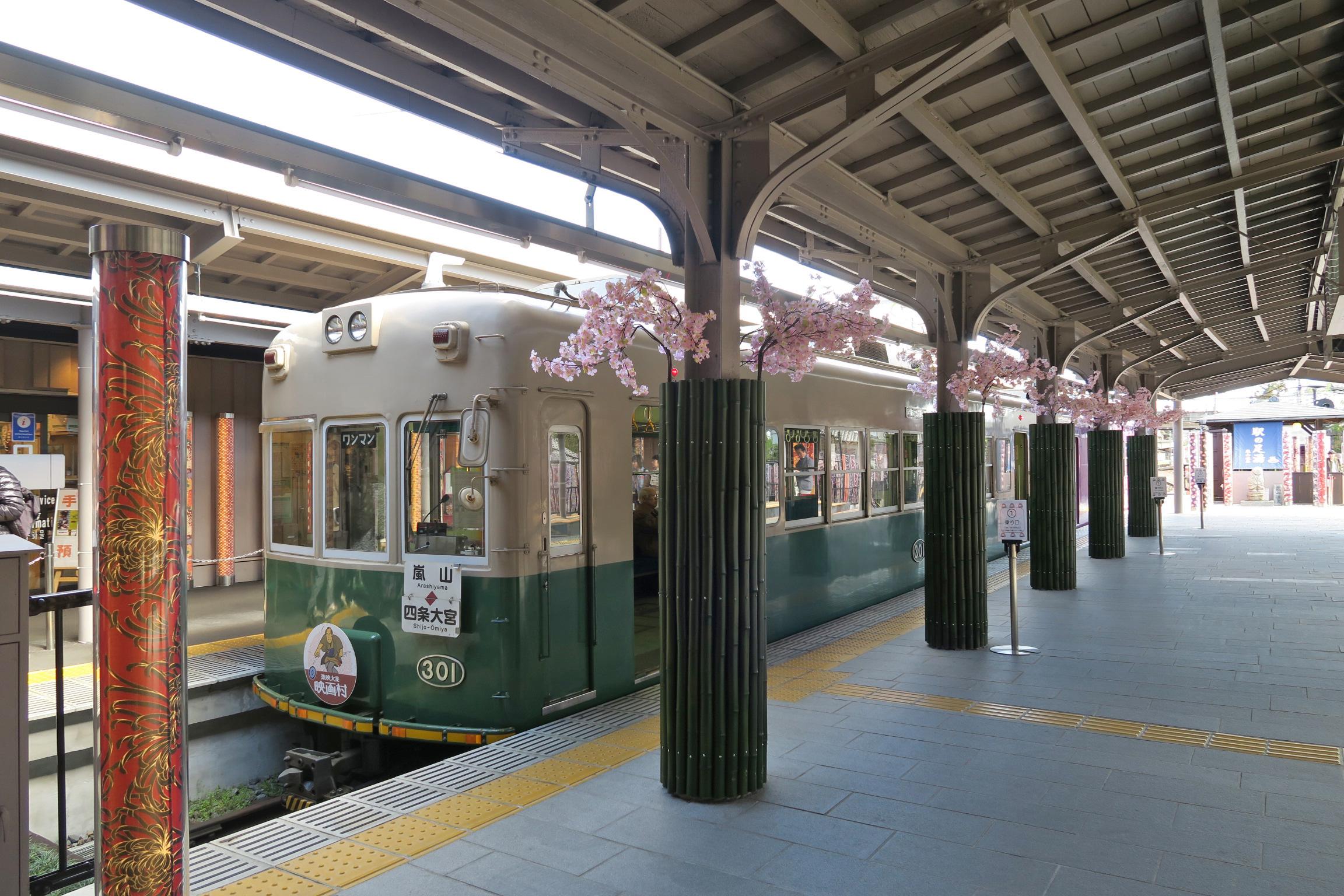乗ってきた電車です。きれいでレトロな感じがGOOD。