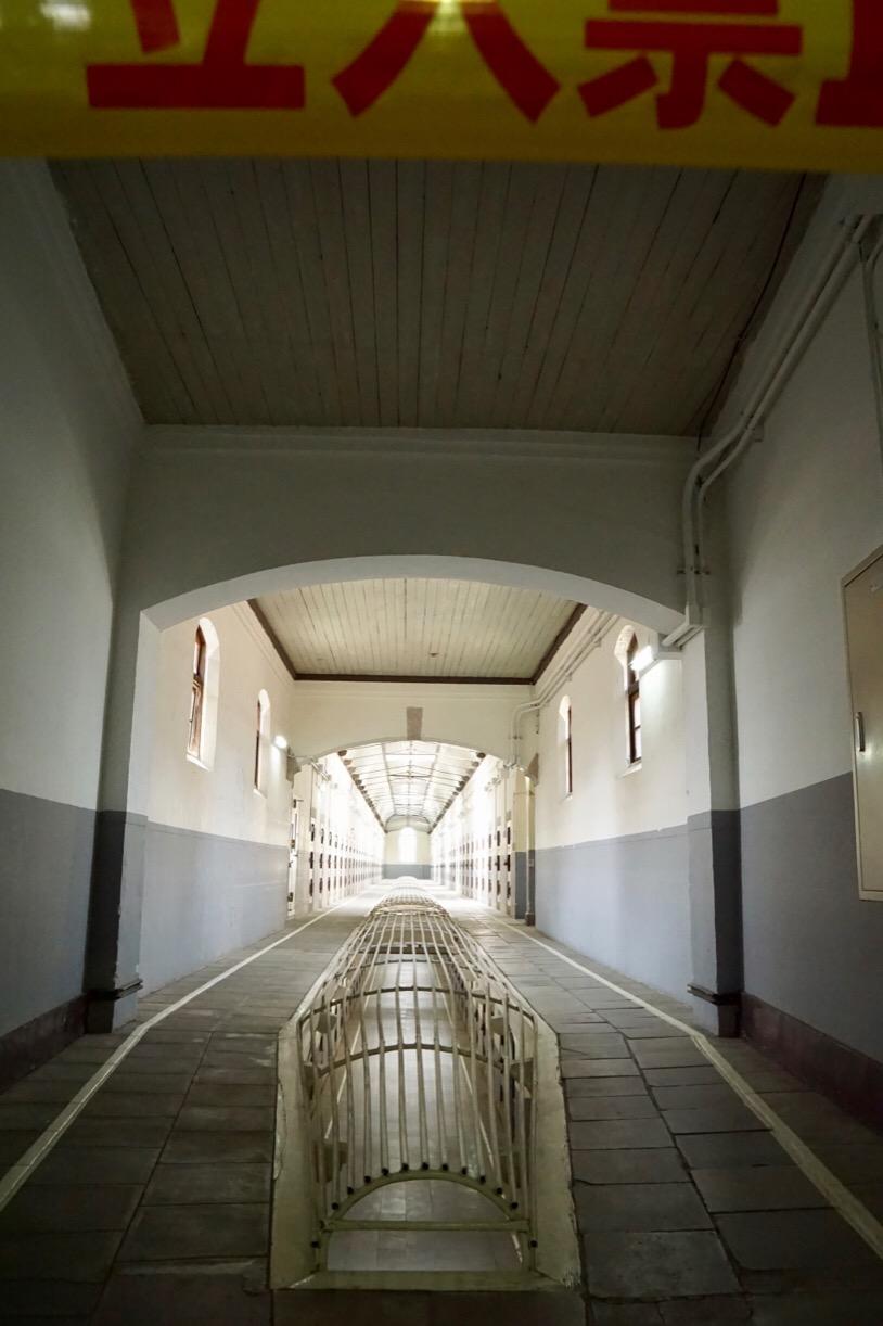 中央看守所から5本に伸びる監房。とても綺麗です。