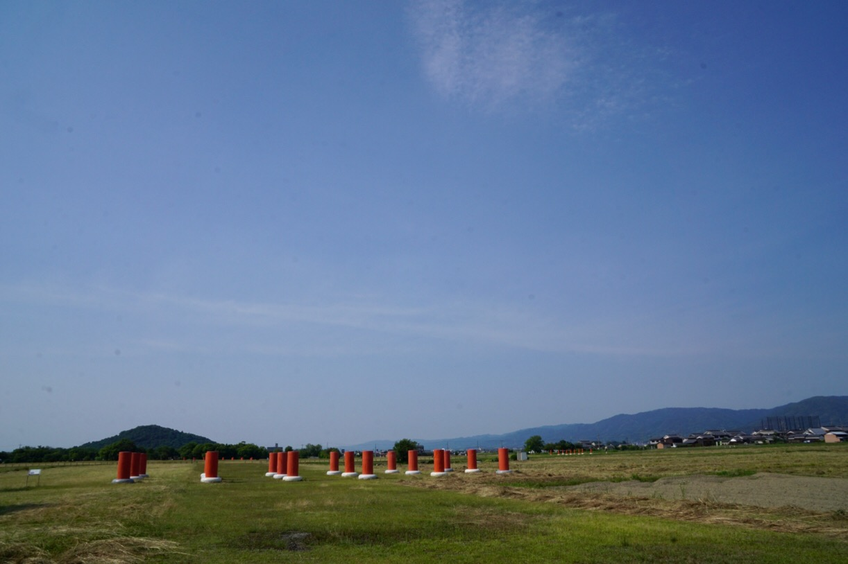 車で10分ほどで藤原京へ。