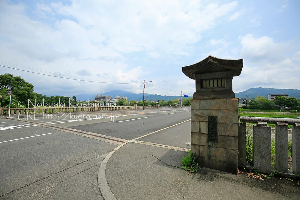 鴨川にかかる橋の中で一番古い賀茂大橋。昭和10年に26橋中、22橋が流される大洪水で残った橋のひとつ
