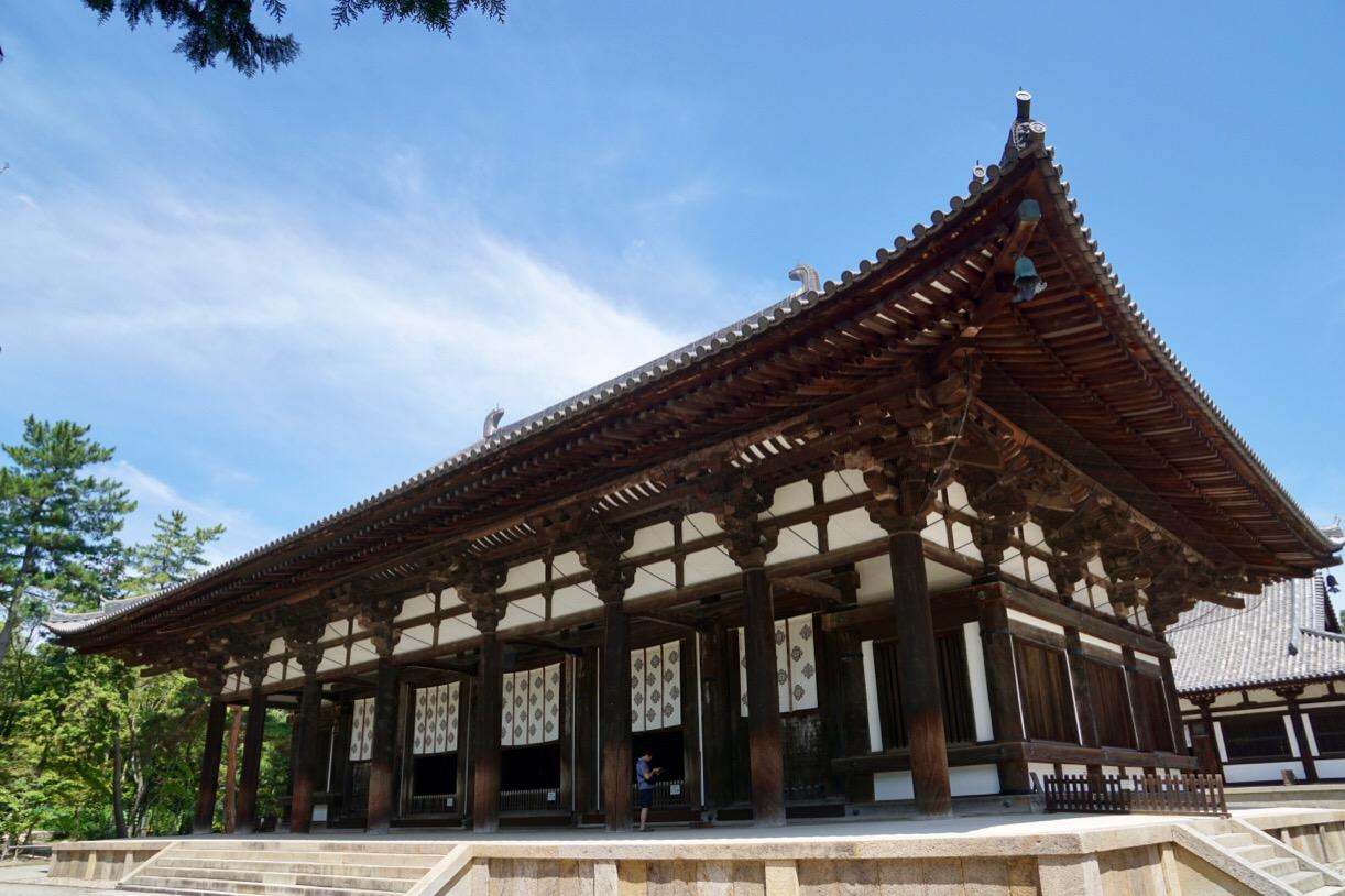唐招提寺は蓮の花が美しいことで有名です。