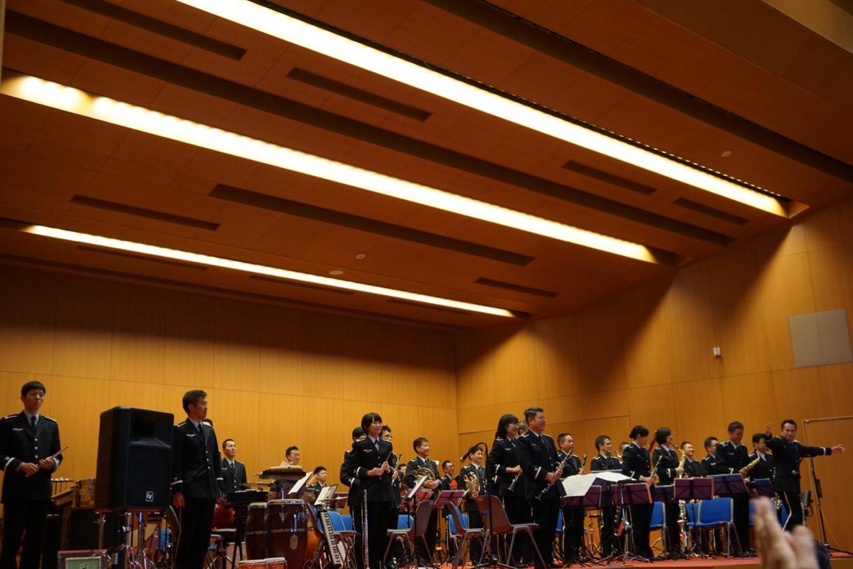 中部音楽隊の演奏。ナレーションも面白くて楽しかったです。