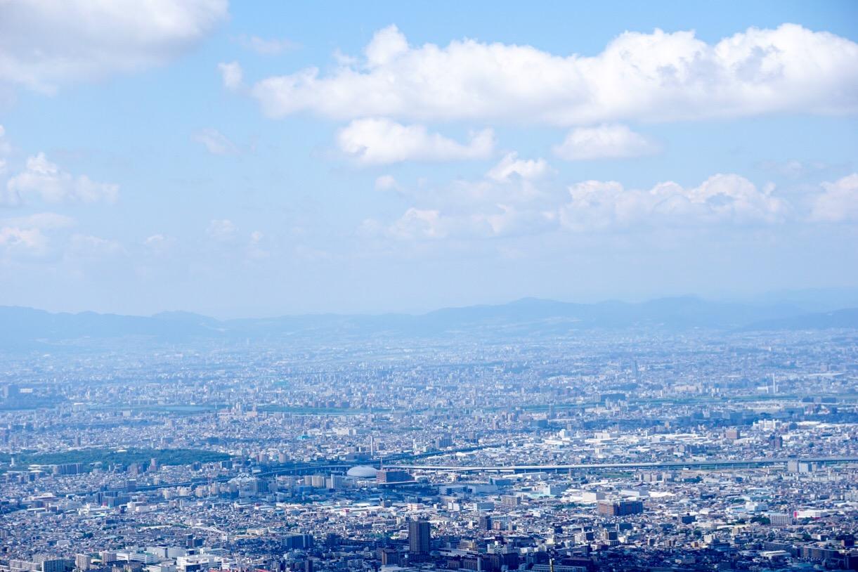 大阪側の眺め。