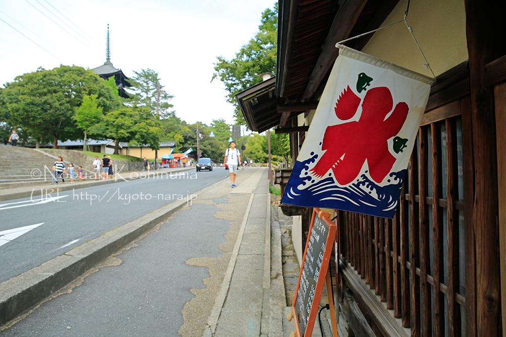 興福寺五重塔の近くのお店。まだ氷食べれます!!