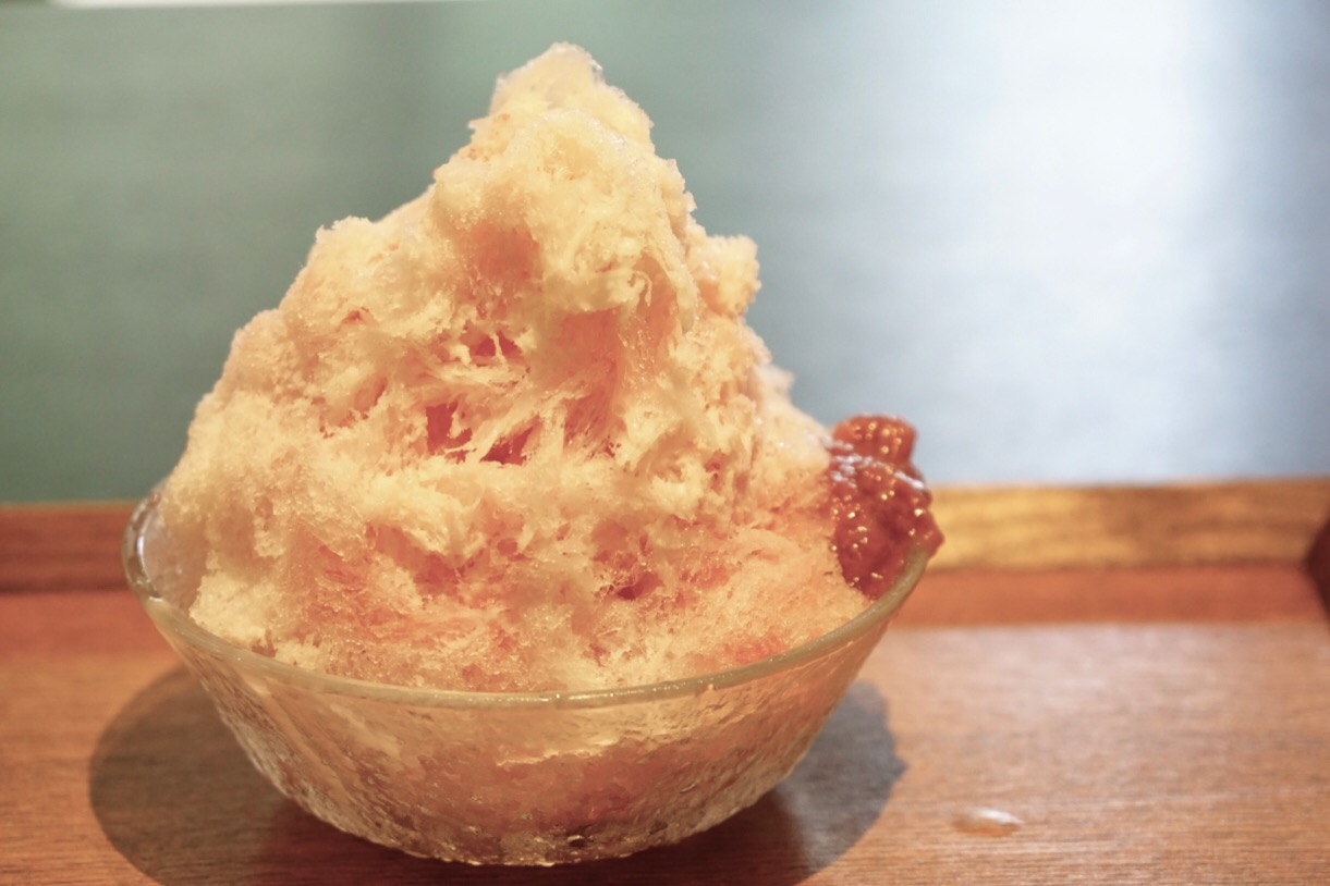 いちご練乳かき氷。とても美味しかったです。