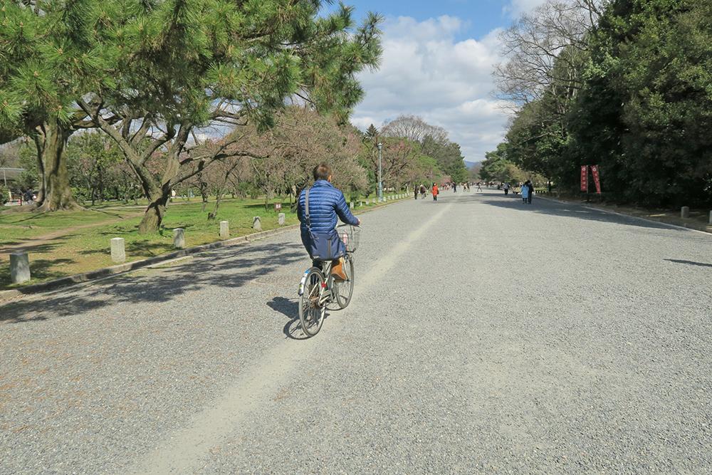 砂利道ですが、自転車専用の道がありました。(笑)