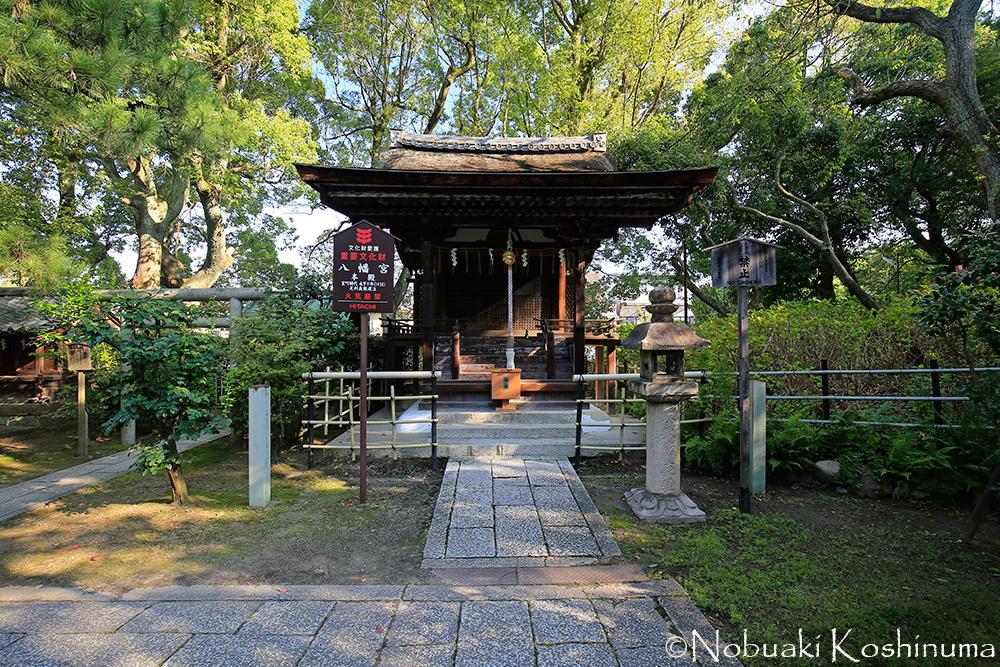 藤森神社本殿裏にある八幡宮。