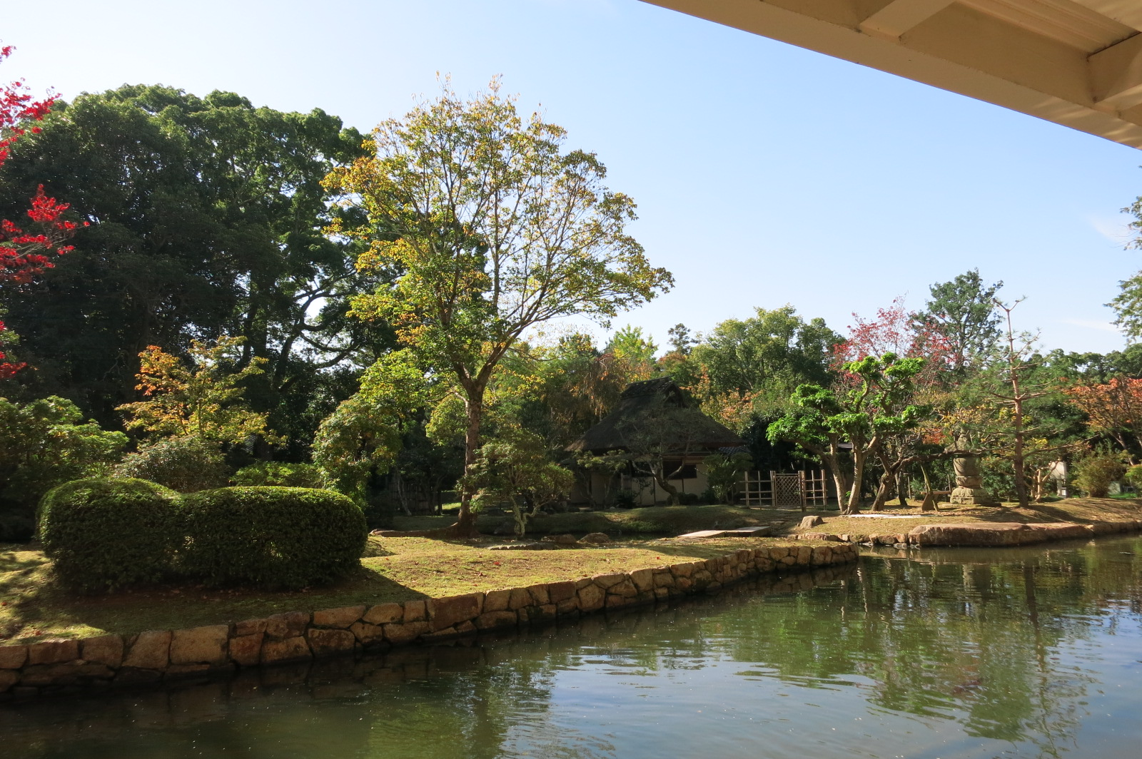 お茶席からはとっても素敵な景色が眺められ、
