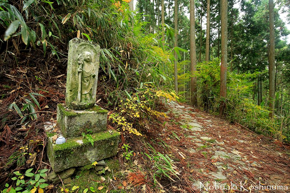 金峯神社(きんぷじんじゃ)を右手に進むと西行庵があります。