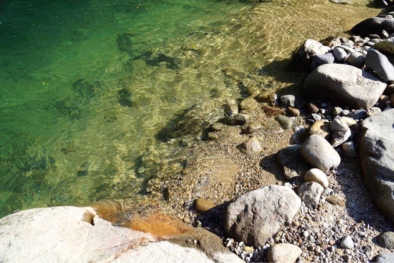 水も透き通っていて本当に綺麗でした。