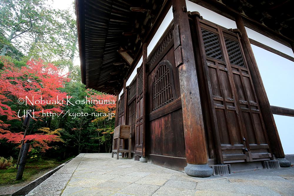 本堂。本尊釈迦如来坐像、文殊普賢菩薩像が安置されています。