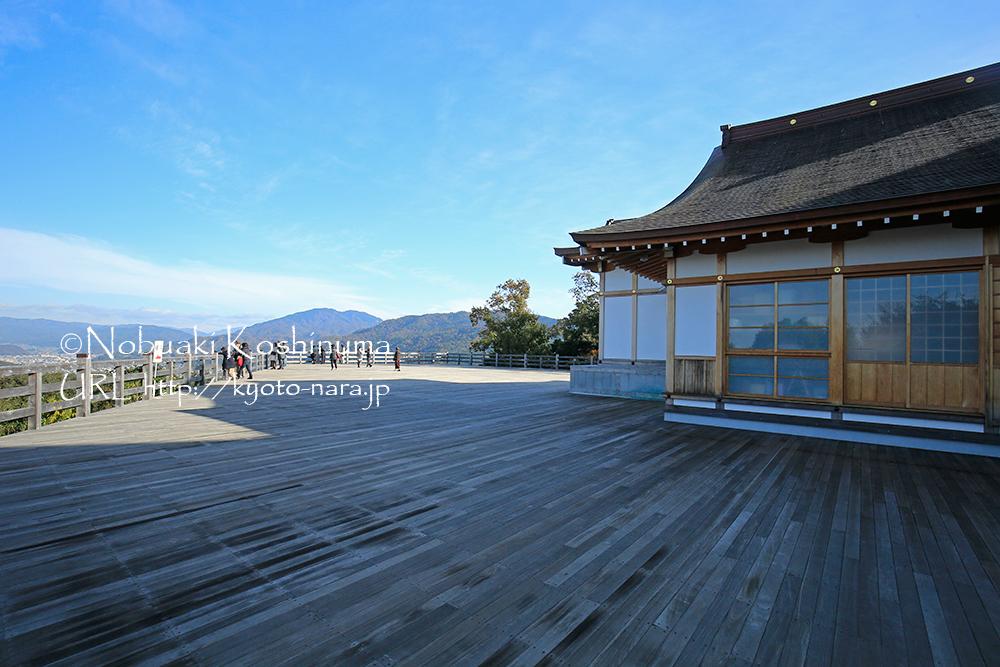 京都の新名所にもなっている大舞台。京都市内が一望できます!