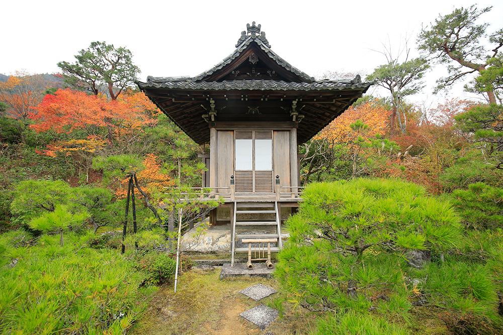 持仏堂。山荘造りは全てココから始まったそう。撮影の合間に念仏し、瞑想、静寂を得て庭造りに入りました