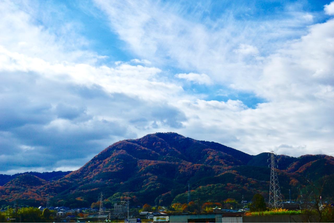 峰々が紅葉し立体的でとても綺麗でした。
