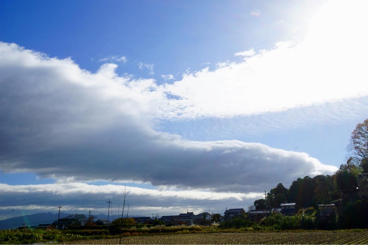 このダイナミックな雲と一緒に撮影したかったのですが、ちょっと距離がありました。。。
