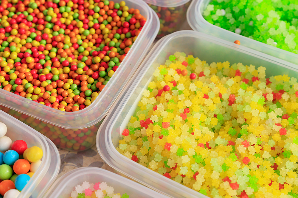 金平糖などいろいろ売られていて見ているだけで楽しいです。