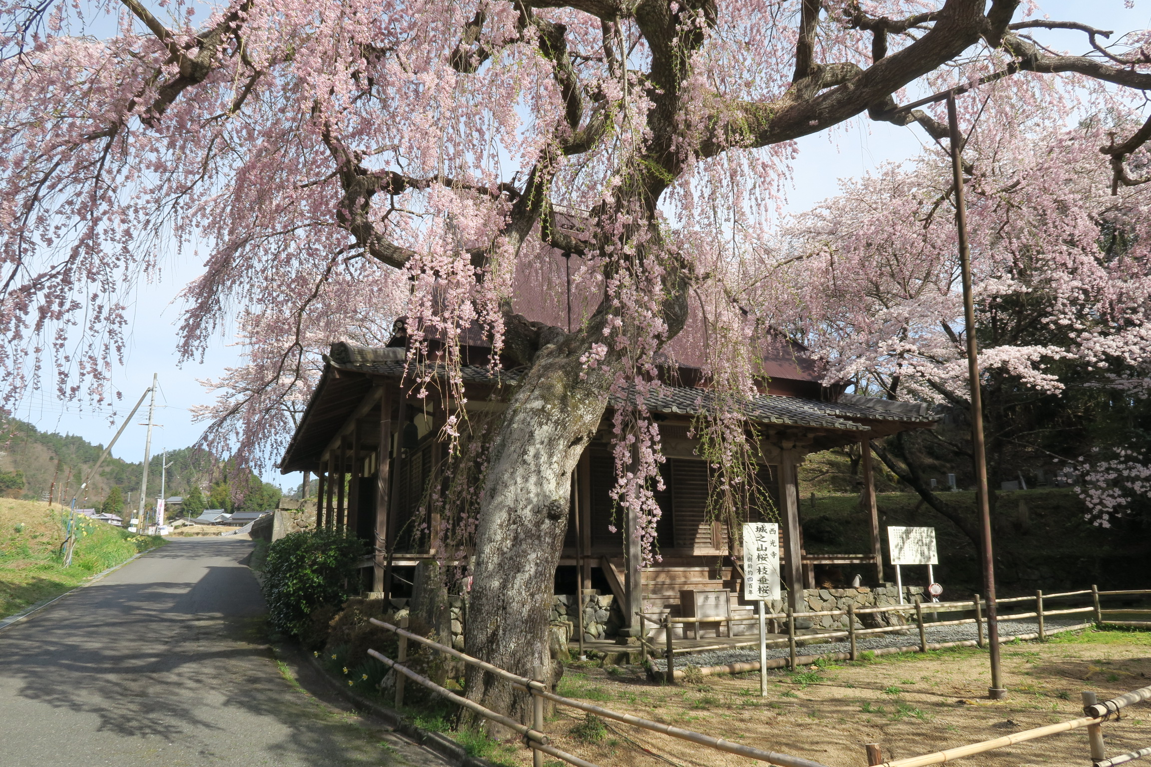 坂の上の方にあるので車が便利です。歩きだと室生寺付近から20~30分くらいです。