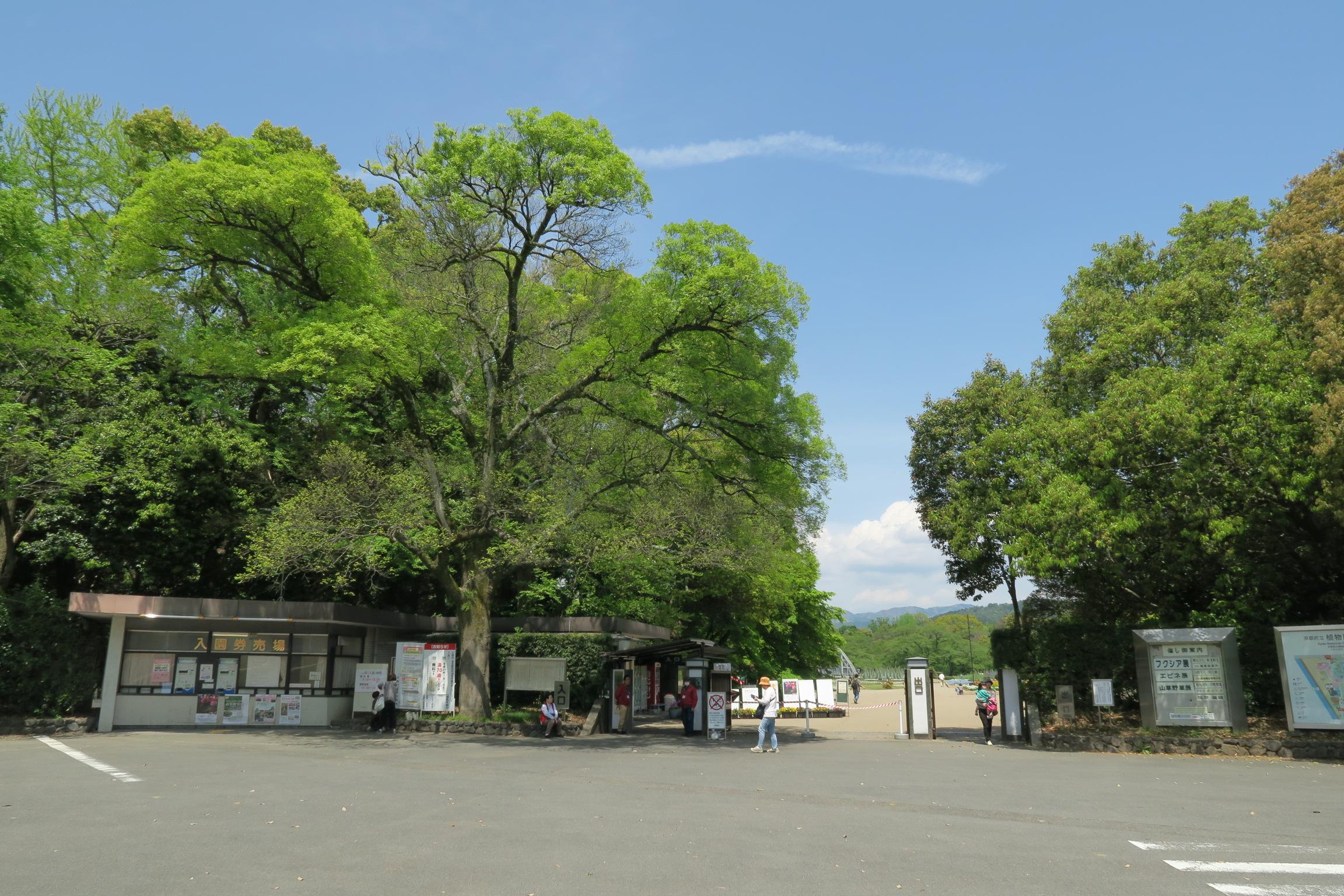 府立植物園の入口。