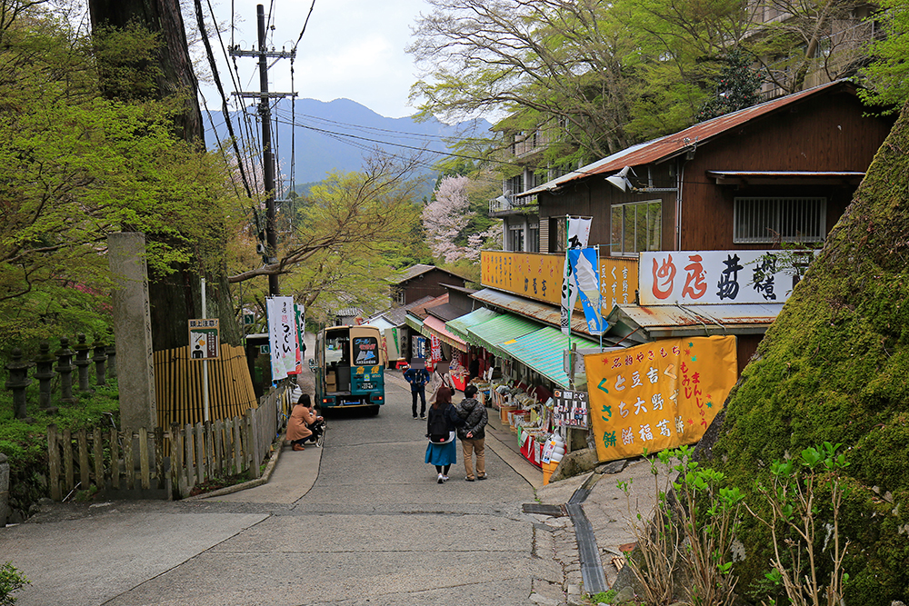 談山神社前のお土産屋。
