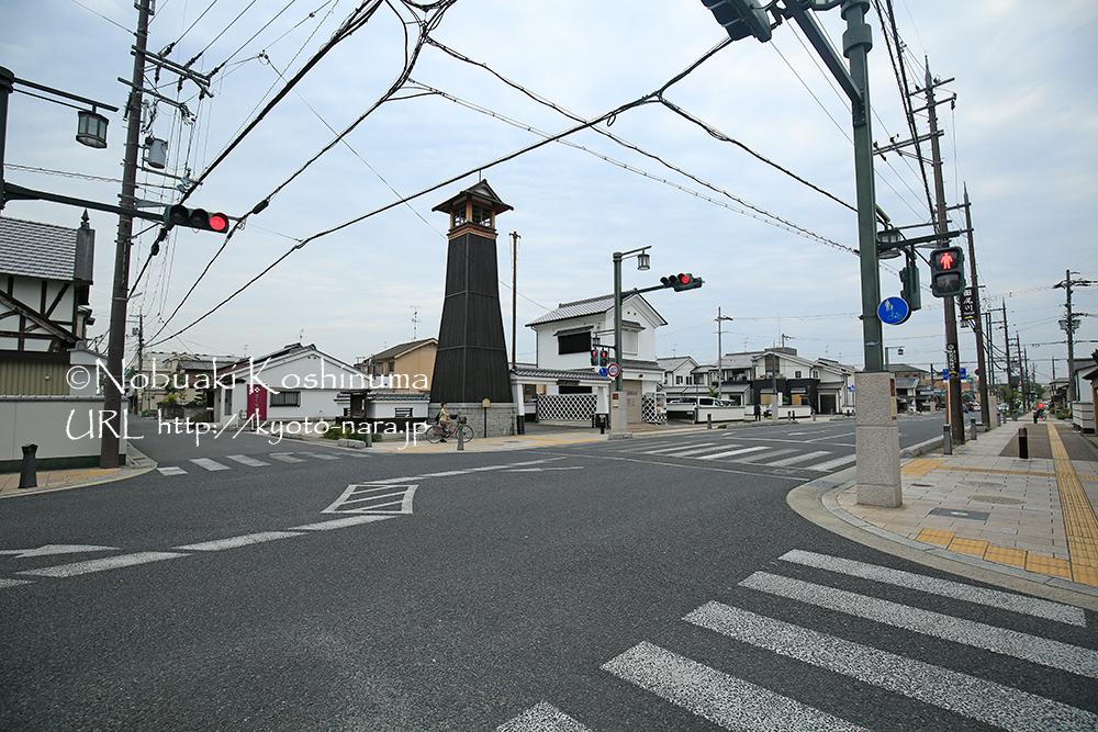 大和郡山市の歴史地区にある「火の見櫓」。江戸時代には4基ほどあったそうです。