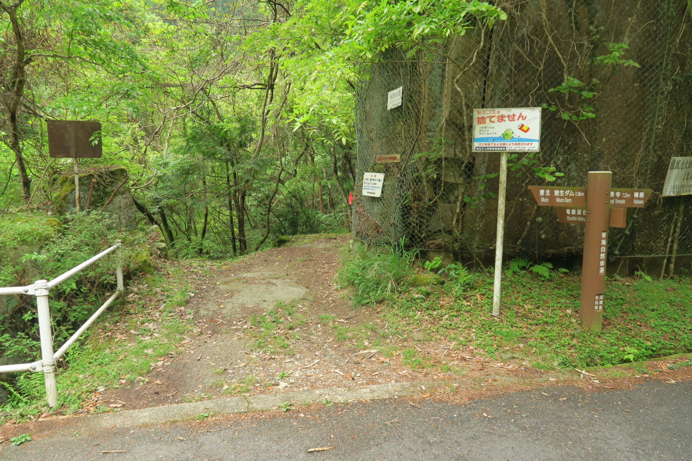 竜鎮渓谷入口です。