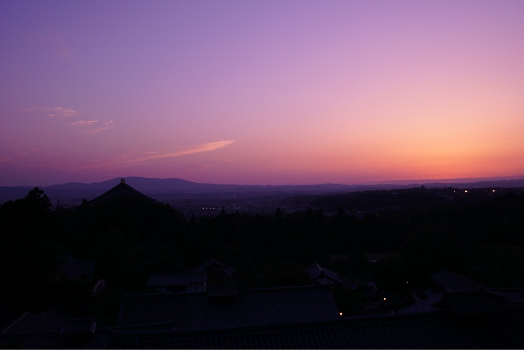 日没後も素敵でした。