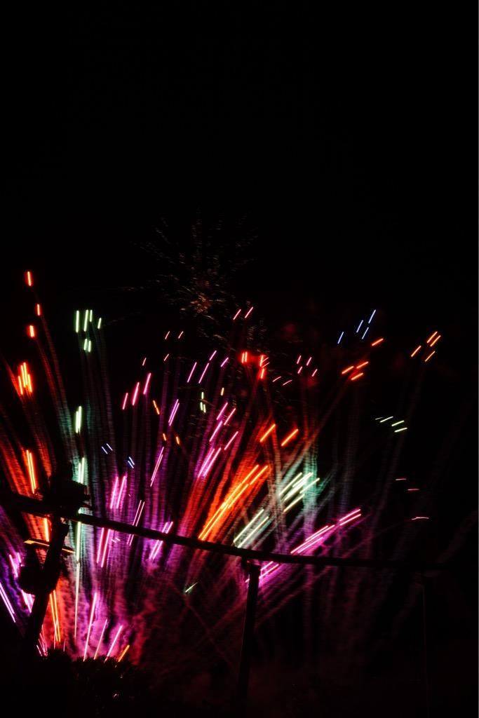 花火は10分でとても短いですがたくさんの方が見にこられていました。