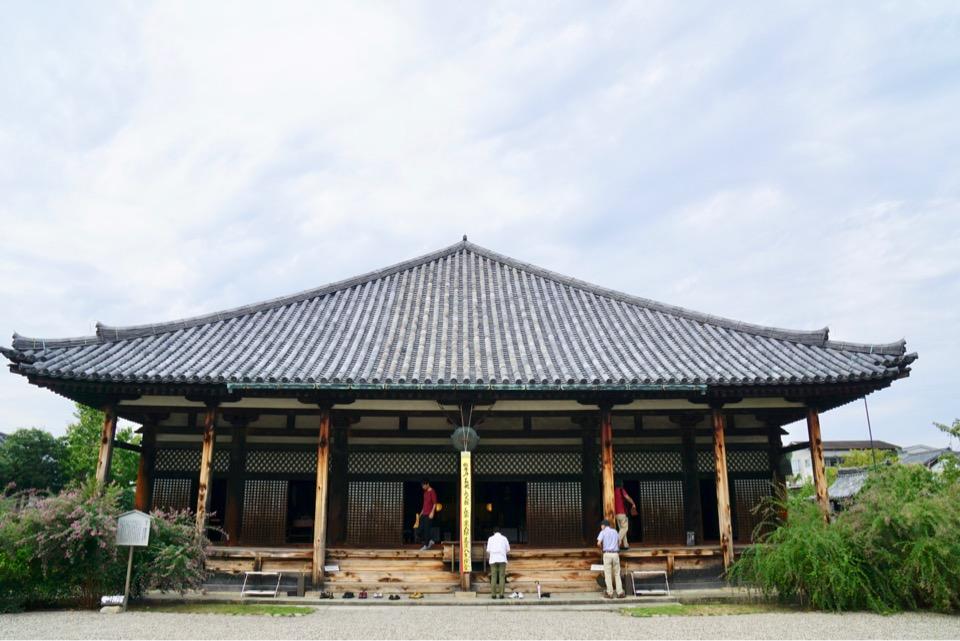 世界遺産元興寺。萩が素晴らしいお寺です。