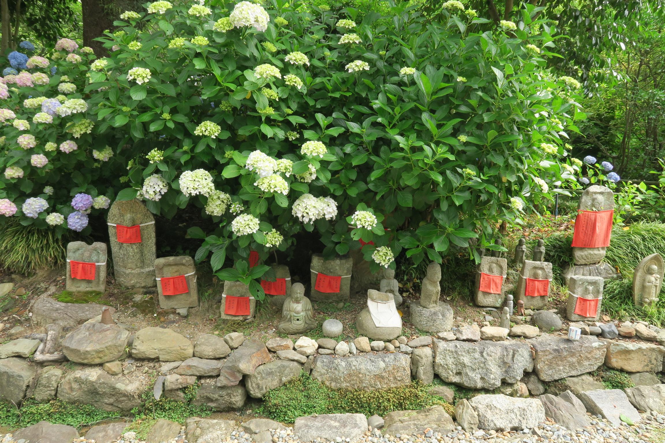 お地蔵さんのお寺としても知られているだけあって、境内のあちこちにお地蔵さんが。