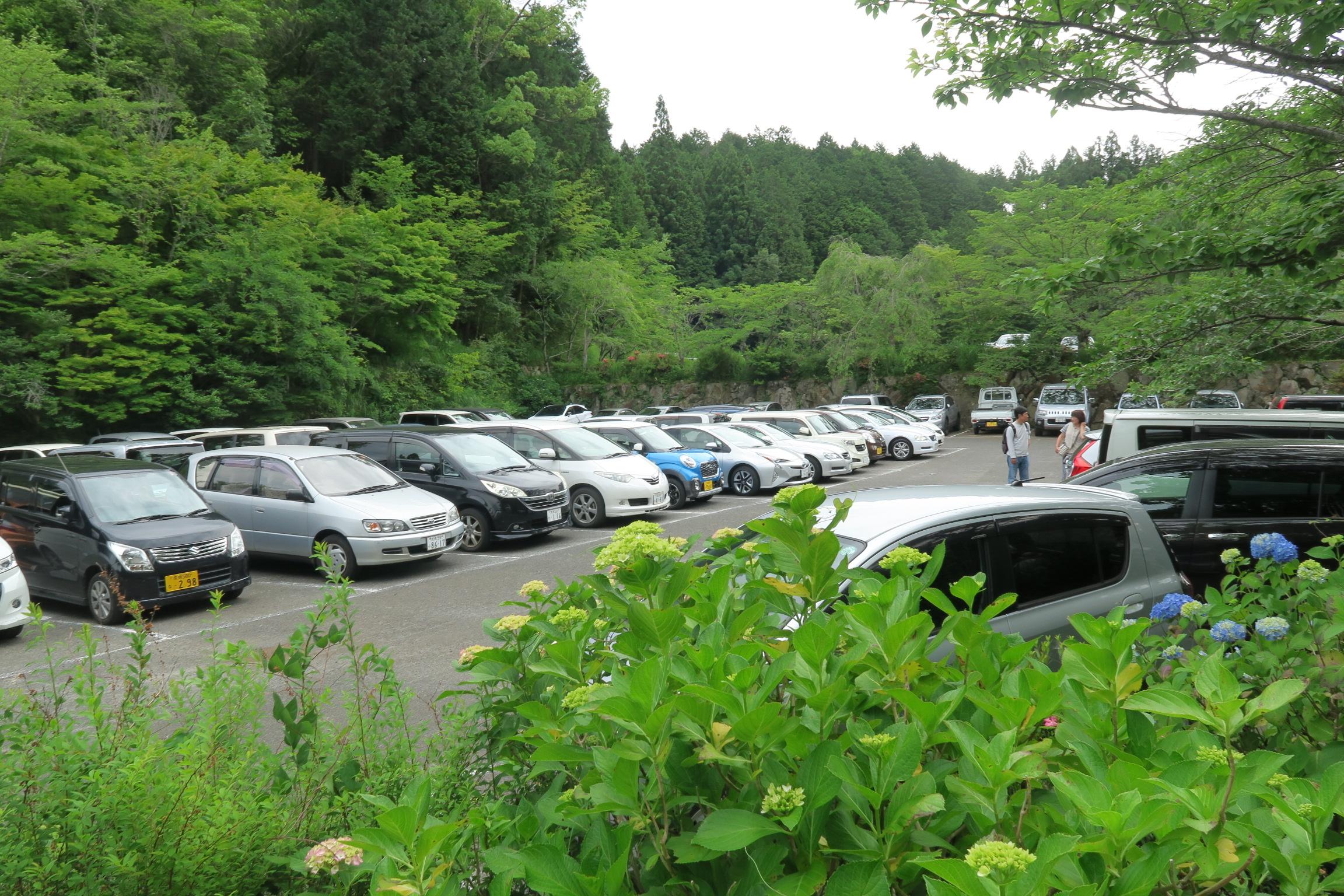 帰る頃には駐車場もいっぱいでした。観光バスも沢山停まってました。
