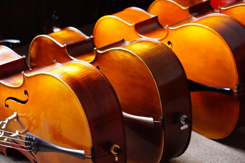 楽器が並ぶ姿はとてもいいですね。