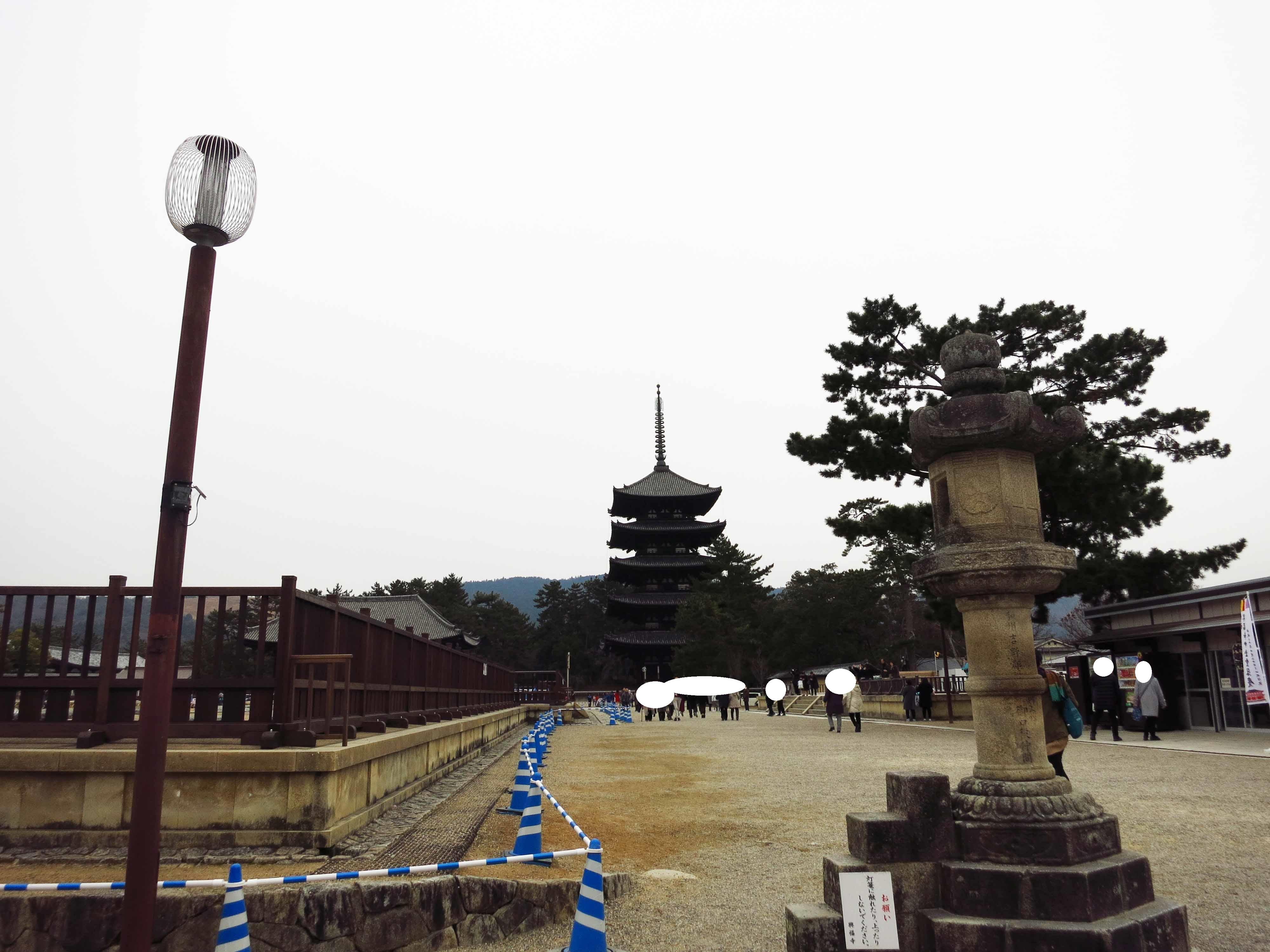 五重塔が見えます。