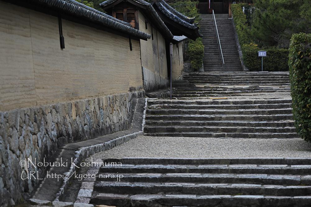 西円堂に続く階段。趣きがありますね。