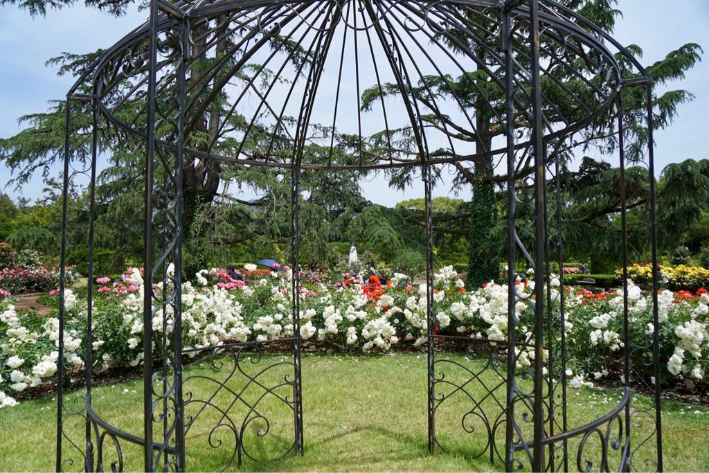 ヨーロッパ庭園を思わせる作りです。