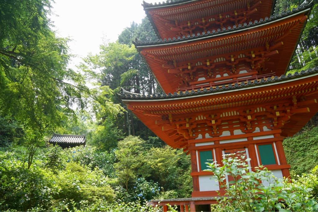 三重塔は極彩色で美しい建物です。