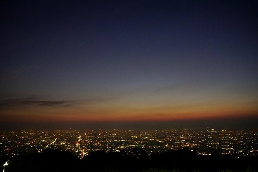 素晴らしい夜景です。