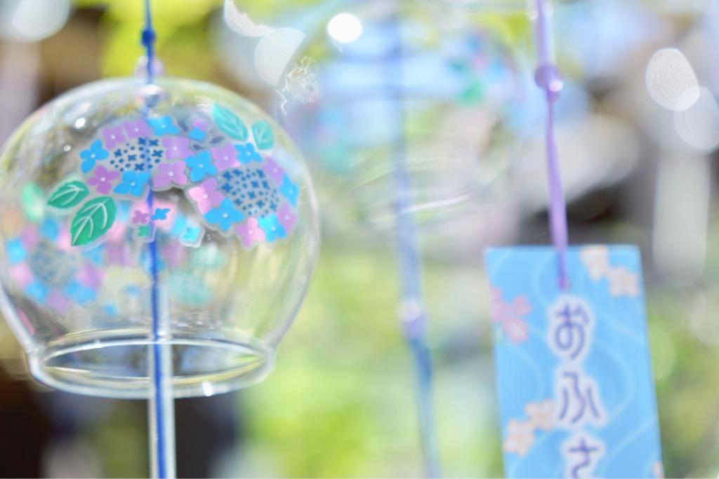ふうりん祭りは8月31日までで夜にはランタンのライトアップも行われています。