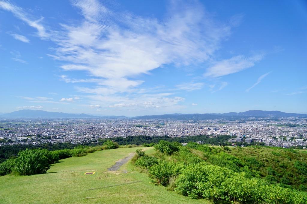 若草山一重目からの眺め 素晴らしい景色です。