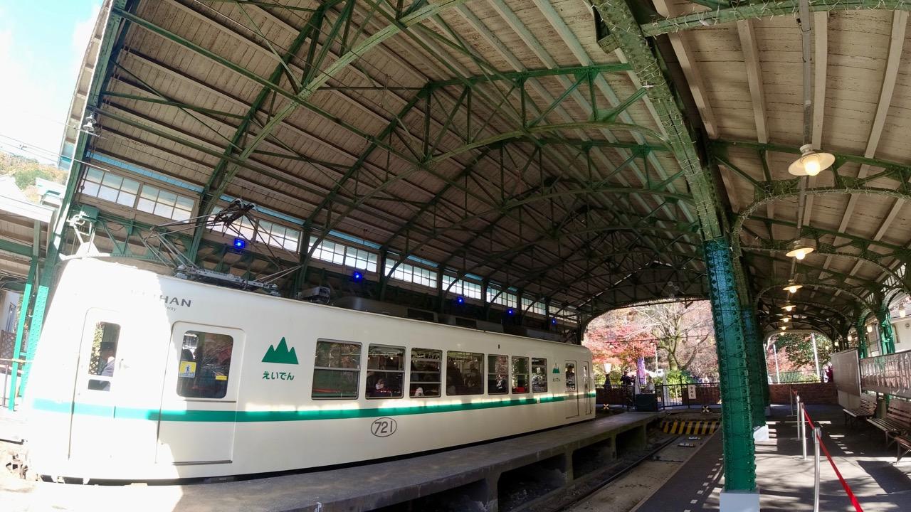 叡山電車八瀬比叡山口駅 レトロで可愛い駅舎です。