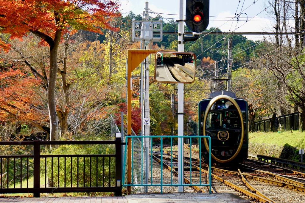 まずは叡山電車で八瀬駅へ。