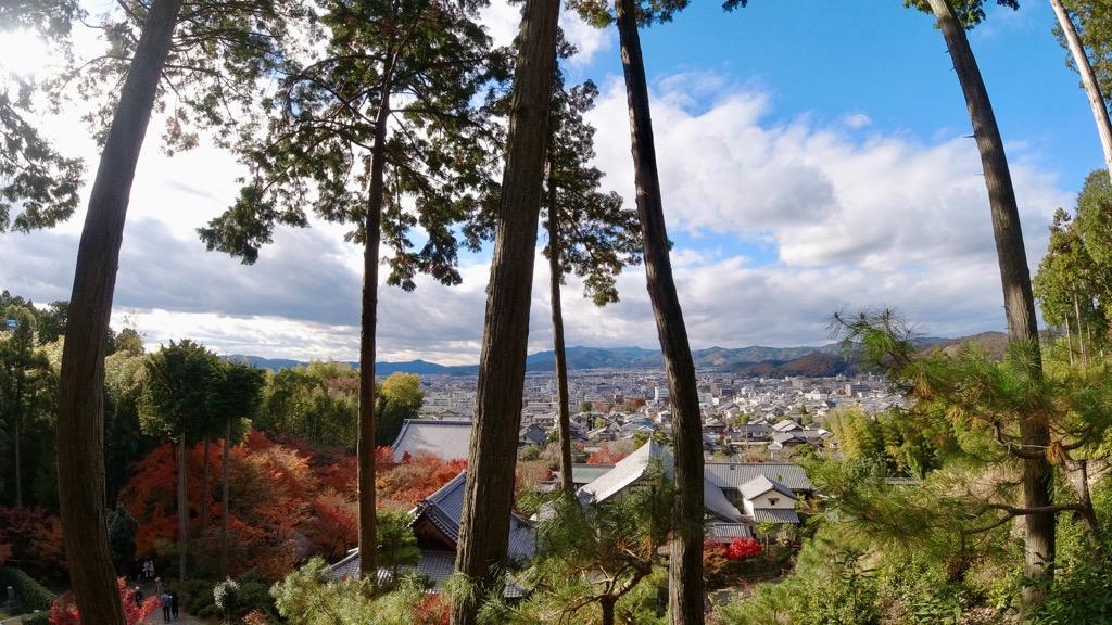 圓光寺へ。眺望が最高です!