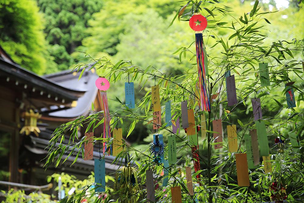 七夕笹飾り。