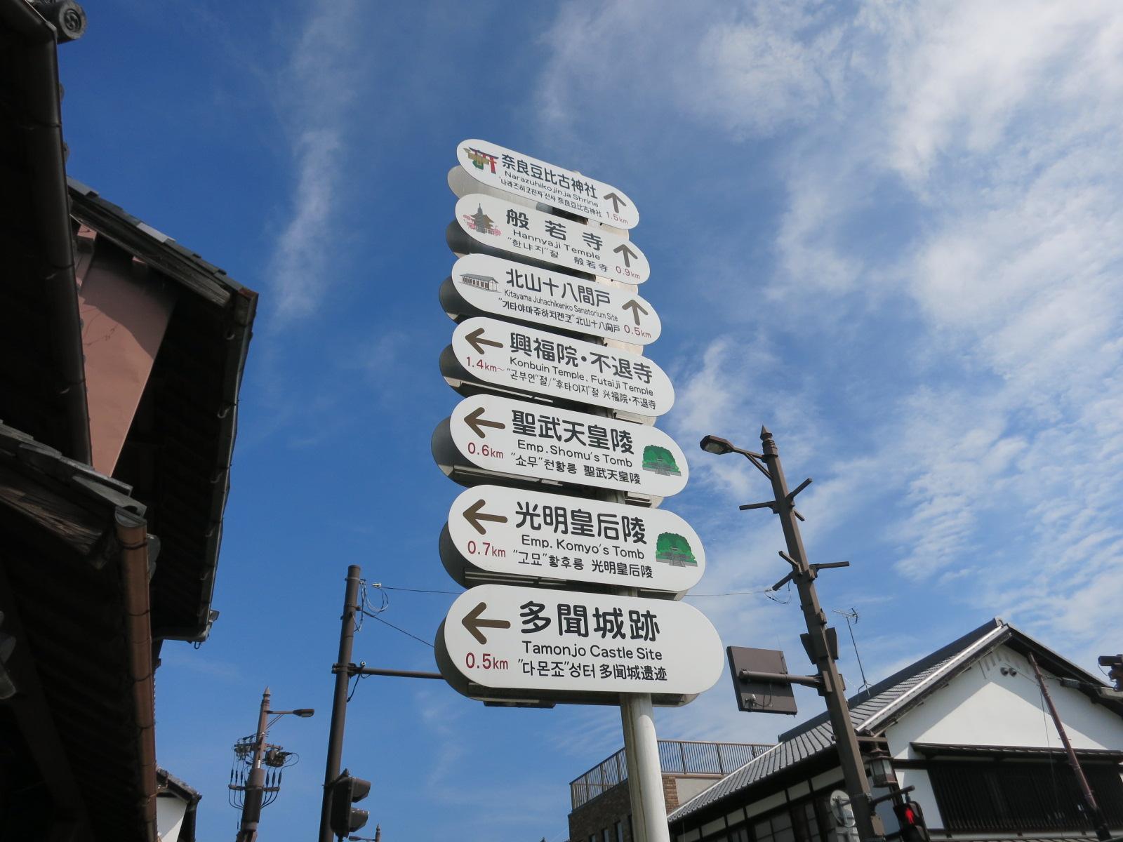 国道369号線に出ました。今回は行けませんでしたが、北に進むと、般若寺などがあります。