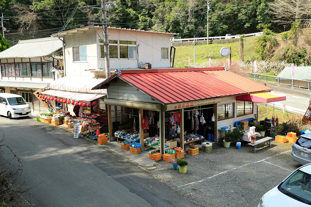 梅園から下りてくると野菜の直販店もありました。