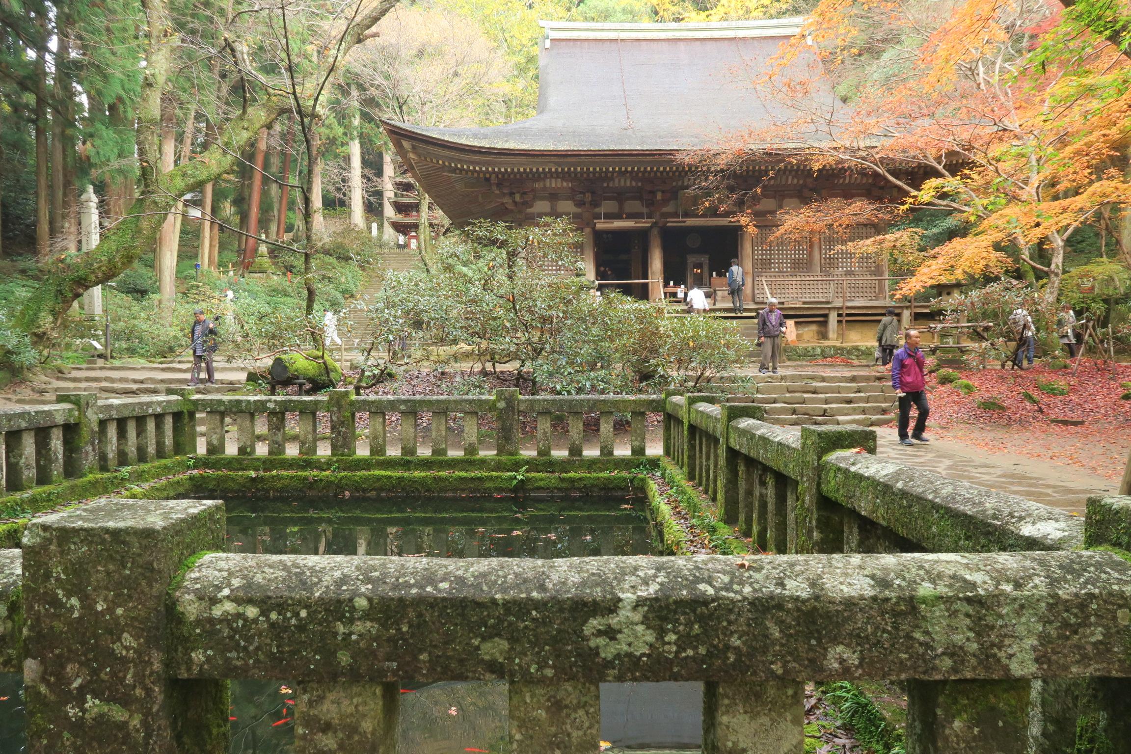 仏様との縁結びの儀式が行われる本堂の潅頂堂(かんじょうどう)。